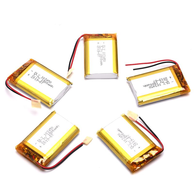 Sissi 1 Cái 3.7V 1800 MAh Li-Po Sạc Pin 103450 Cho DVD GPS PDA Tai Nghe