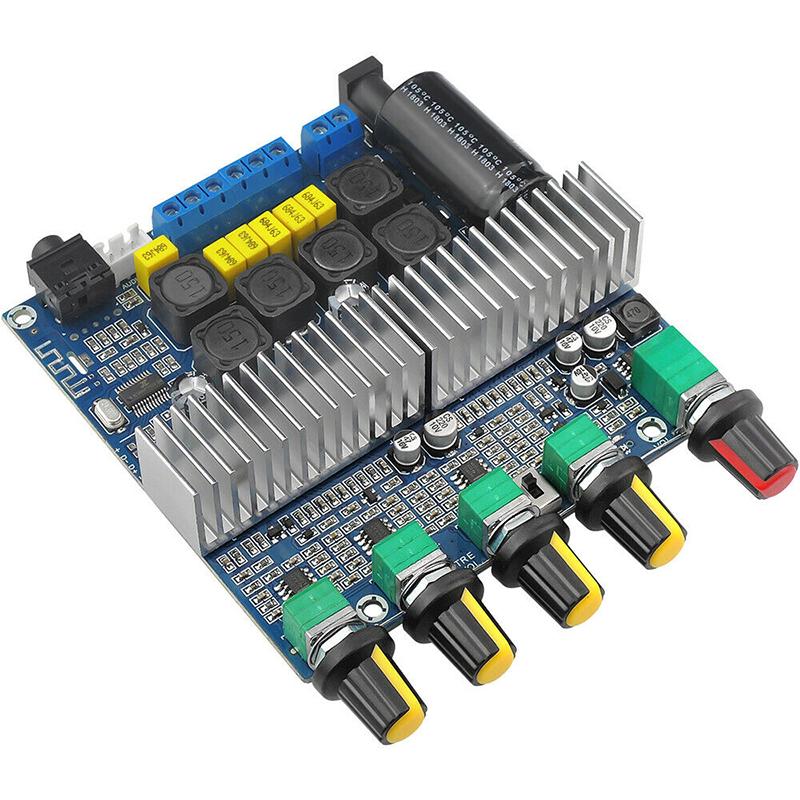 Jcefa Bộ Khuếch Đại Âm Thanh Potey, Mạch Bluetooth 5.0 TPA3116D2, Kỹ Thuật Số 2.1, 100W + 50W + 50W DC, 12-24V