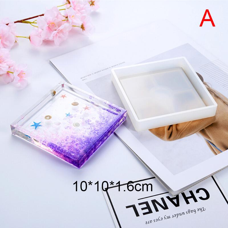 Cneng Lichengcheng Coaster Nhựa Miếng Lót Cốc Bằng Silicon Pad Khuôn Làm Đồ Trang Sức Epoxy Khuôn Công Cụ Thủ Công