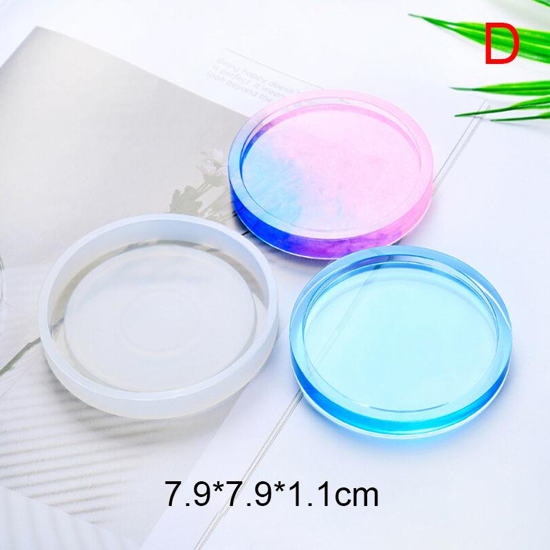 Nacha Lichengcheng Coaster Nhựa Miếng Lót Cốc Bằng Silicon Pad Khuôn Làm Đồ Trang Sức Epoxy Khuôn Công Cụ Thủ Công