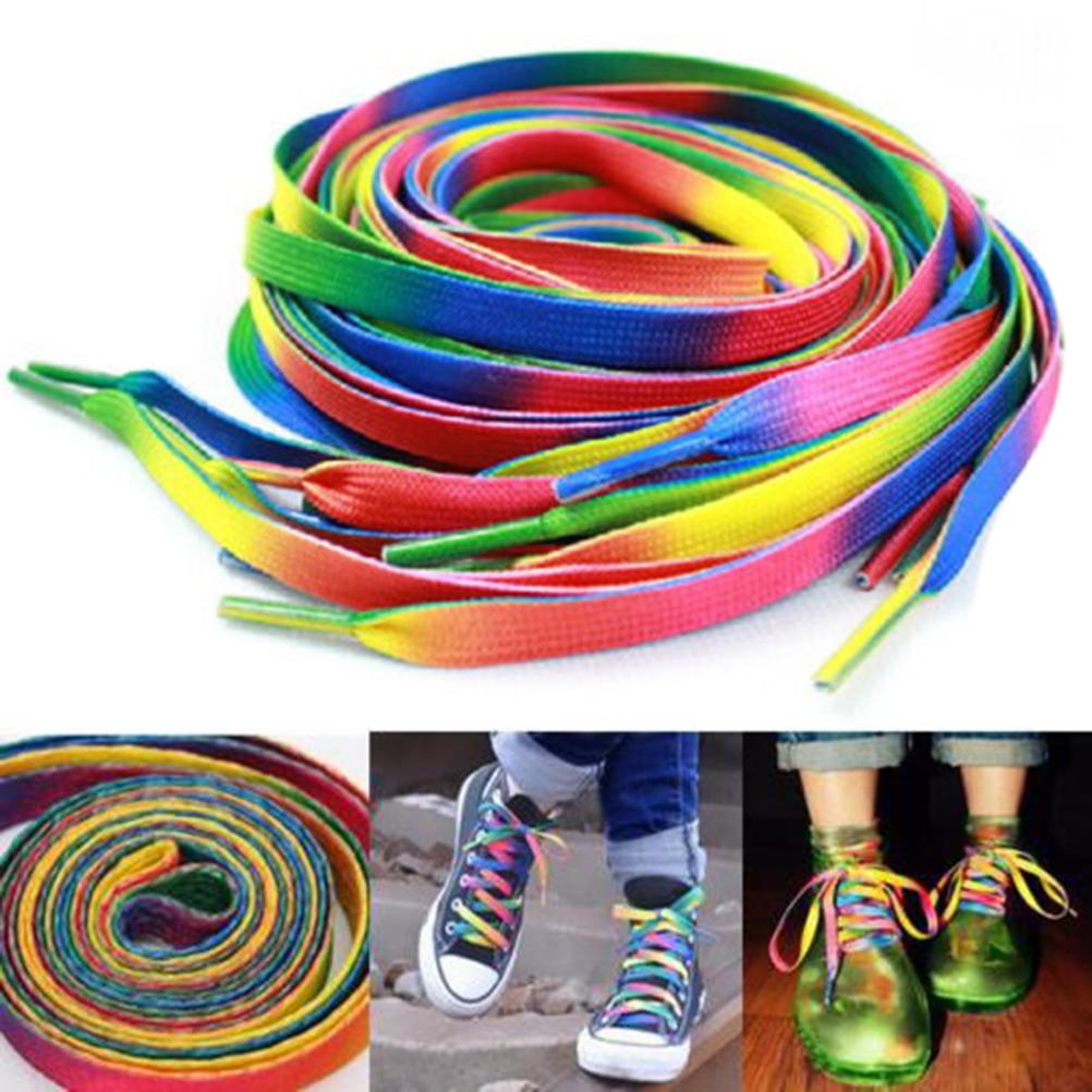 [Annabels] 2X Rainbow Kẹo Màu Giày Ren Khởi Động Dây Giày Dây Giày Dây Mới giá rẻ